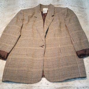 White Stag Wool Blend One Button Blazer Size 14
